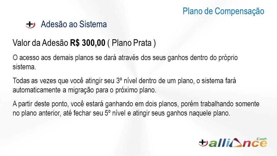 Valor da Adesão R$ 300,00 ( Plano Prata )