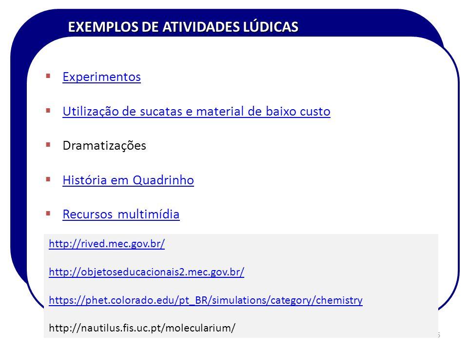 EXEMPLOS DE ATIVIDADES LÚDICAS