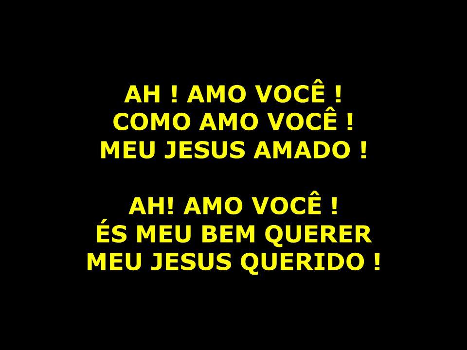 AH . AMO VOCÊ . COMO AMO VOCÊ . MEU JESUS AMADO .