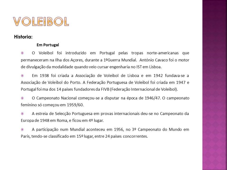 Voleibol Historia: Em Portugal
