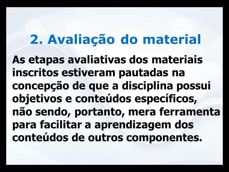 2. Avaliação do material