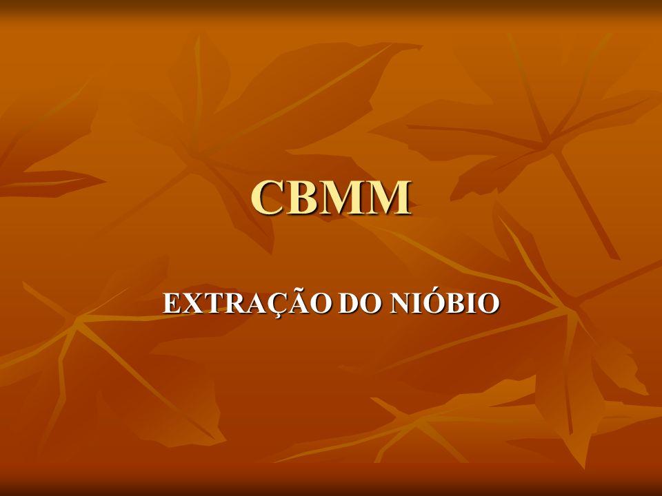 CBMM EXTRAÇÃO DO NIÓBIO