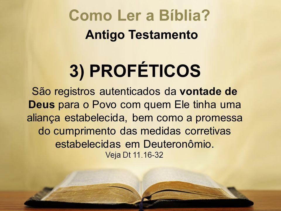 3) PROFÉTICOS Como Ler a Bíblia Antigo Testamento