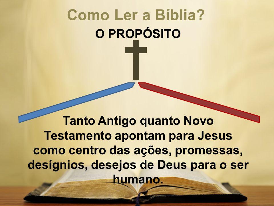 Como Ler a Bíblia O PROPÓSITO
