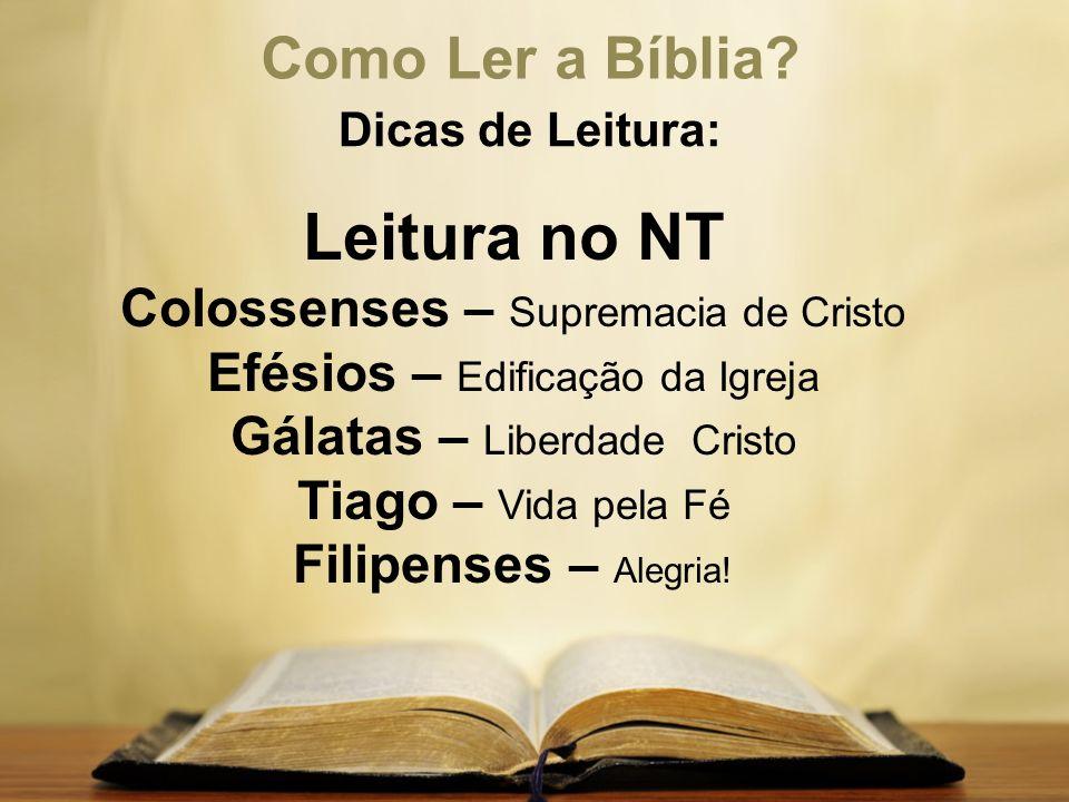 Leitura no NT Como Ler a Bíblia Colossenses – Supremacia de Cristo