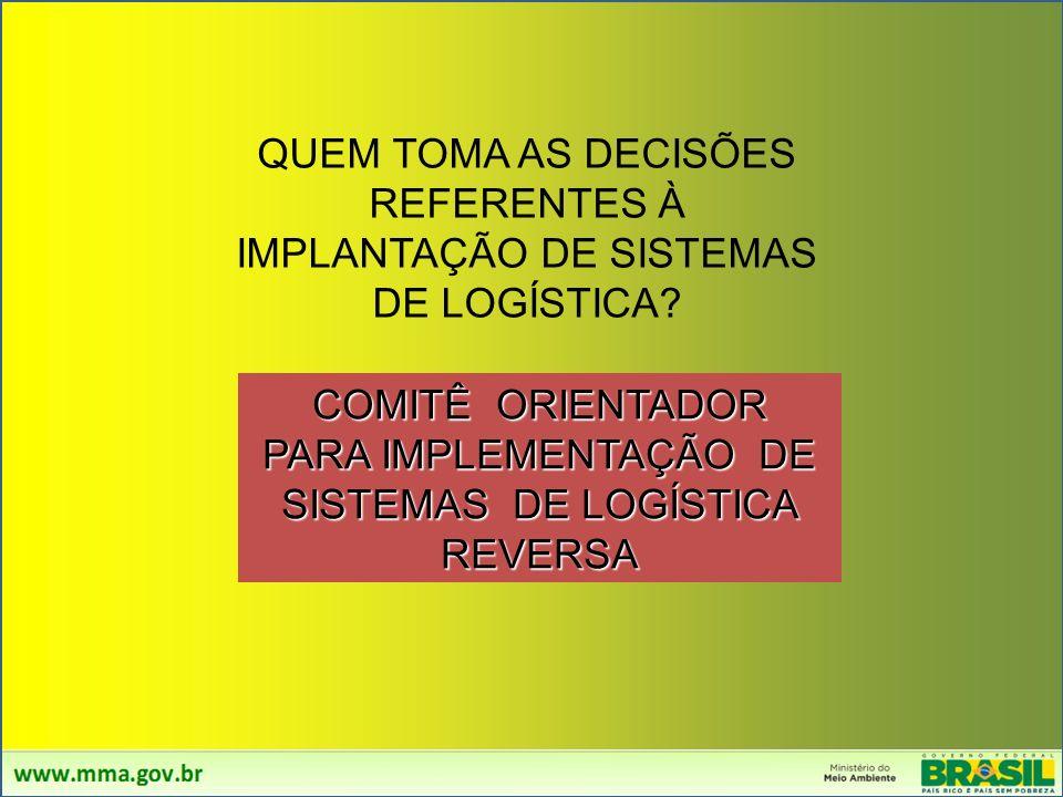 COMITÊ ORIENTADOR PARA IMPLEMENTAÇÃO DE SISTEMAS DE LOGÍSTICA REVERSA
