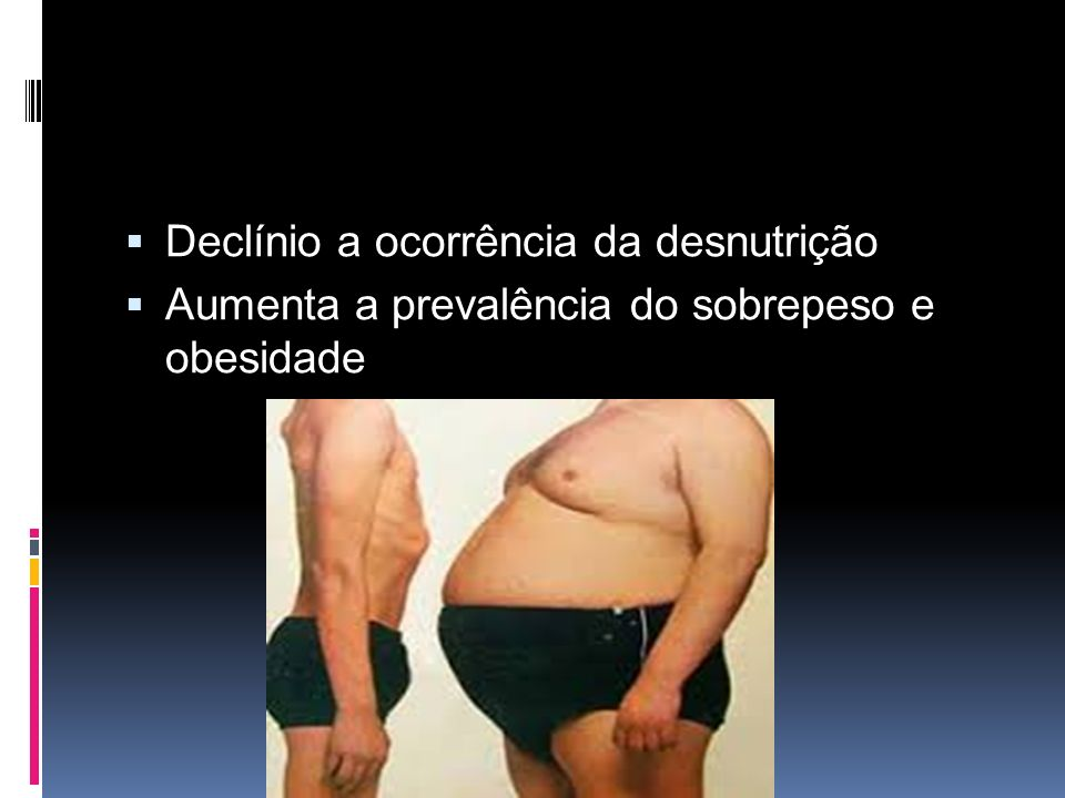 Declínio a ocorrência da desnutrição