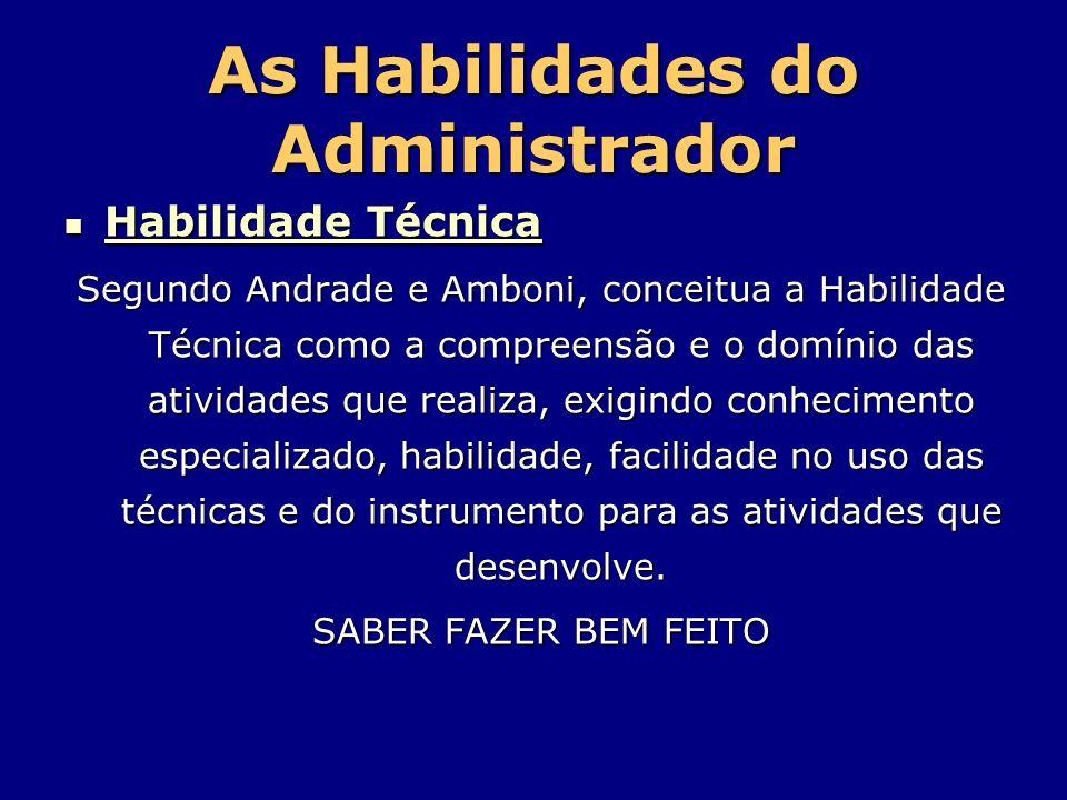 As Habilidades do Administrador