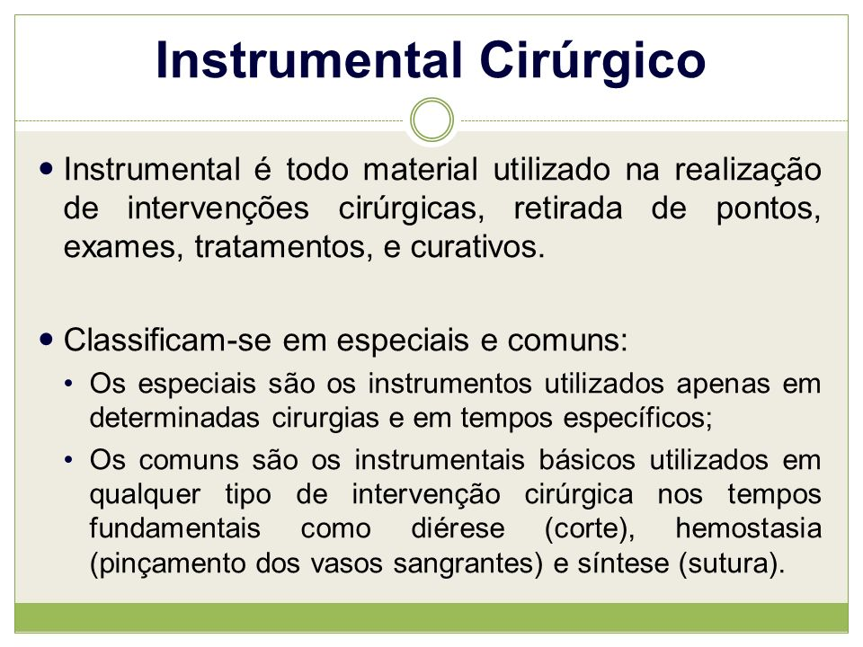 Instrumental Cirúrgico