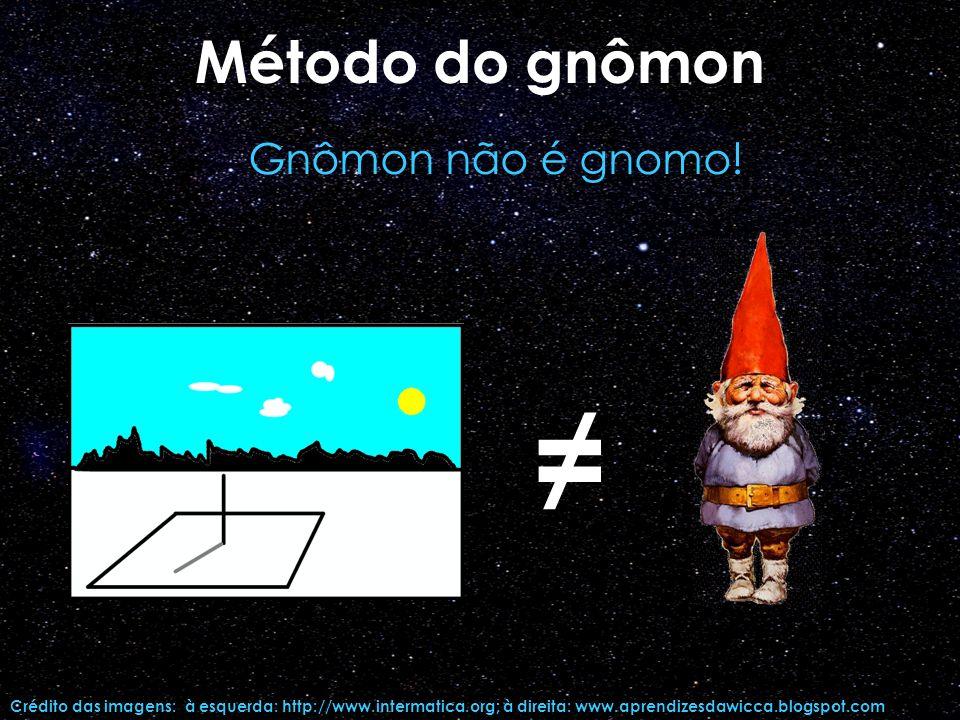 ≠ Método do gnômon Gnômon não é gnomo!