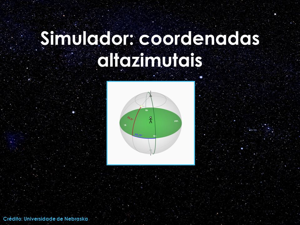 Simulador: coordenadas altazimutais