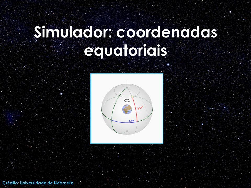 Simulador: coordenadas equatoriais