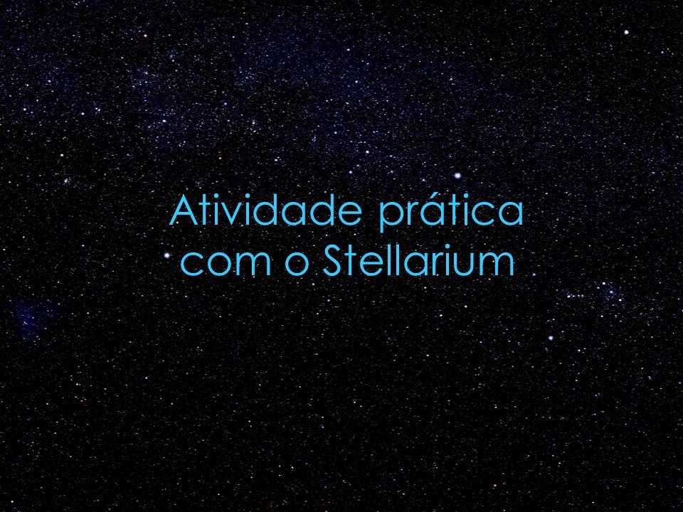 Atividade prática com o Stellarium