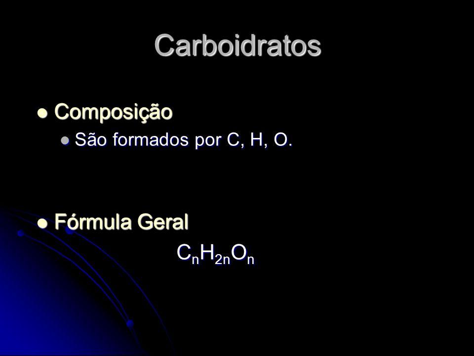 Carboidratos Composição Fórmula Geral CnH2nOn