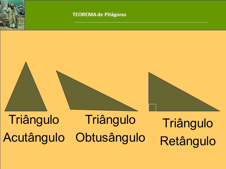 Triângulo Acutângulo Triângulo Obtusângulo Triângulo Retângulo