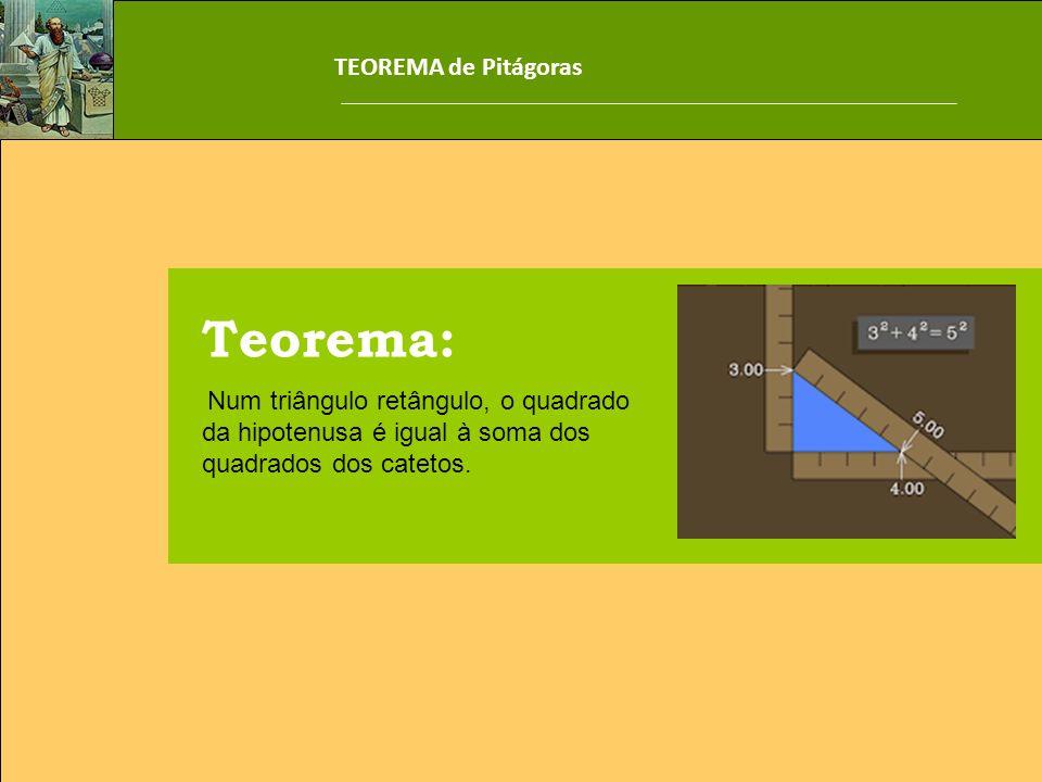 Teorema: TEOREMA de Pitágoras