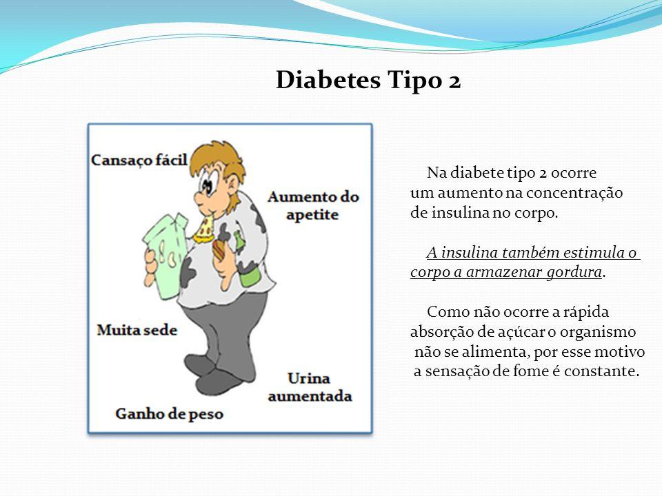 Diabetes Tipo 2 Na diabete tipo 2 ocorre um aumento na concentração