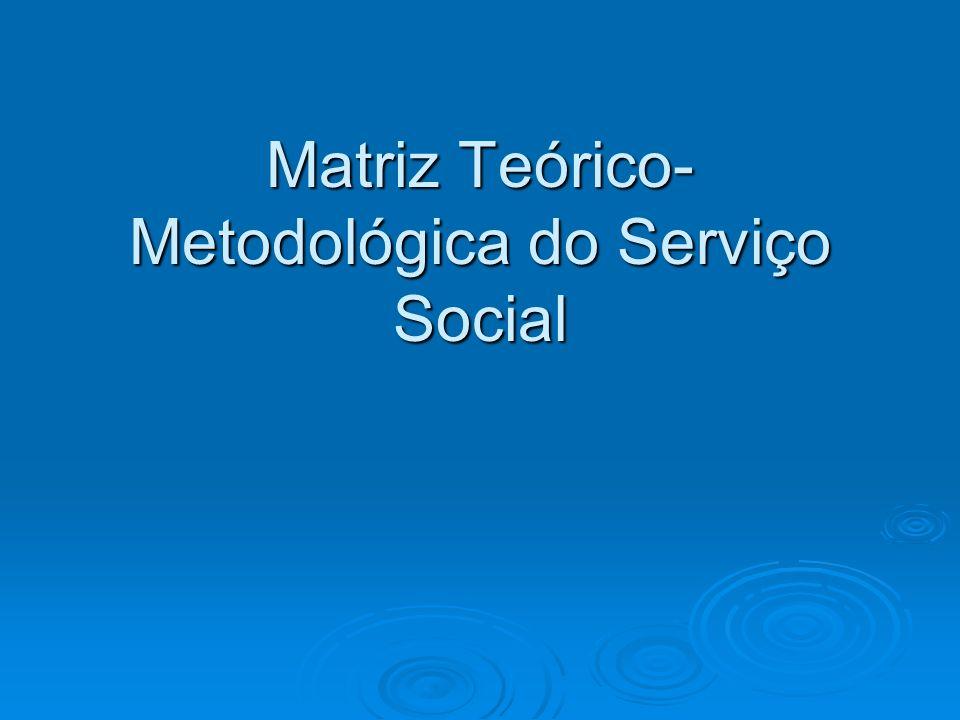 Matriz Teórico-Metodológica do Serviço Social