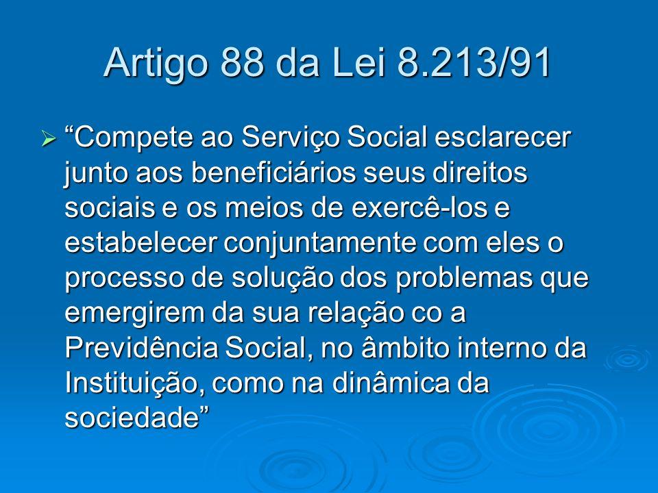Artigo 88 da Lei 8.213/91
