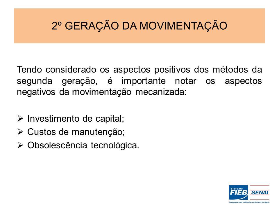 2º GERAÇÃO DA MOVIMENTAÇÃO