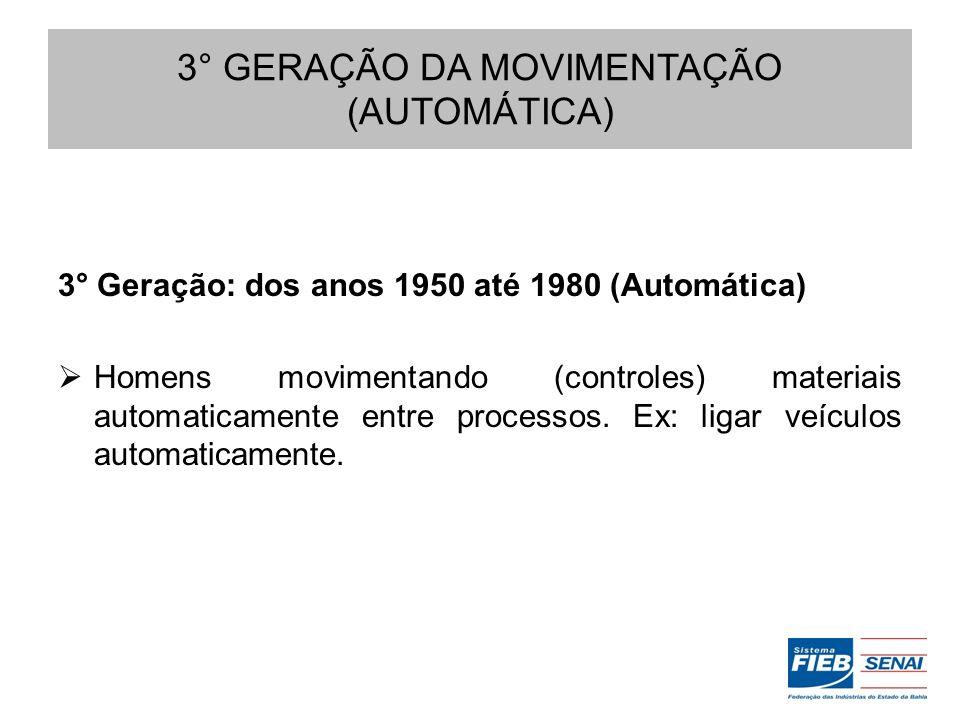 3° GERAÇÃO DA MOVIMENTAÇÃO (AUTOMÁTICA)