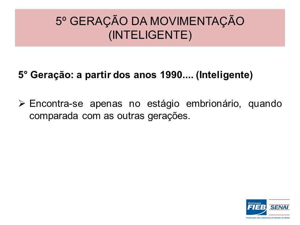5º GERAÇÃO DA MOVIMENTAÇÃO (INTELIGENTE)