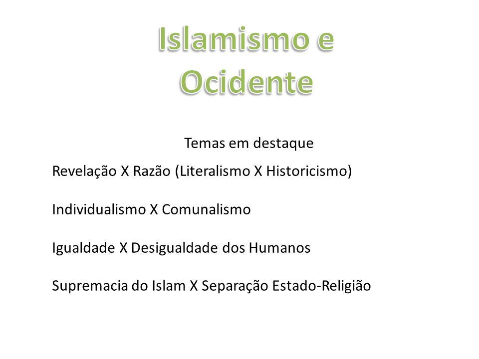 Islamismo e Ocidente Temas em destaque