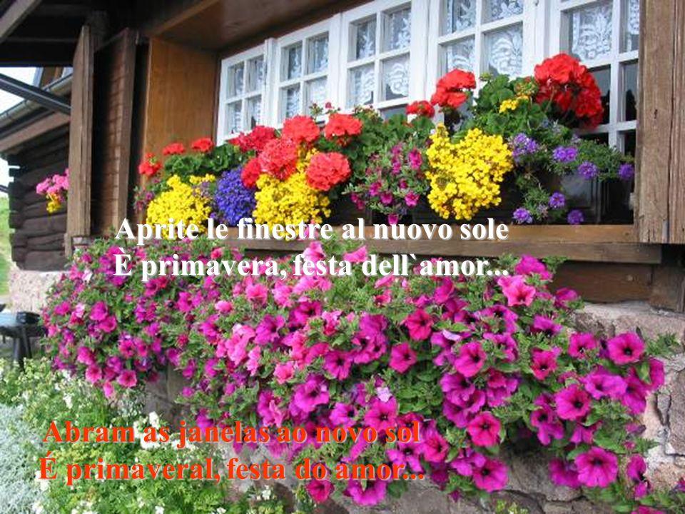 Aprite le finestre al nuovo sole È primavera, festa dell`amor...