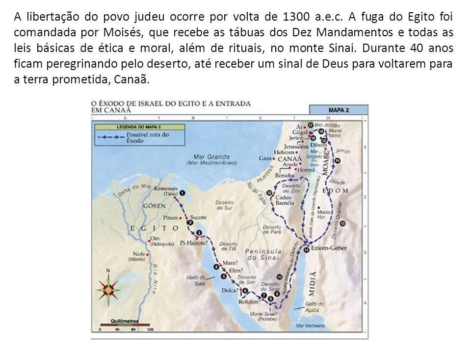 A libertação do povo judeu ocorre por volta de 1300 a. e. c