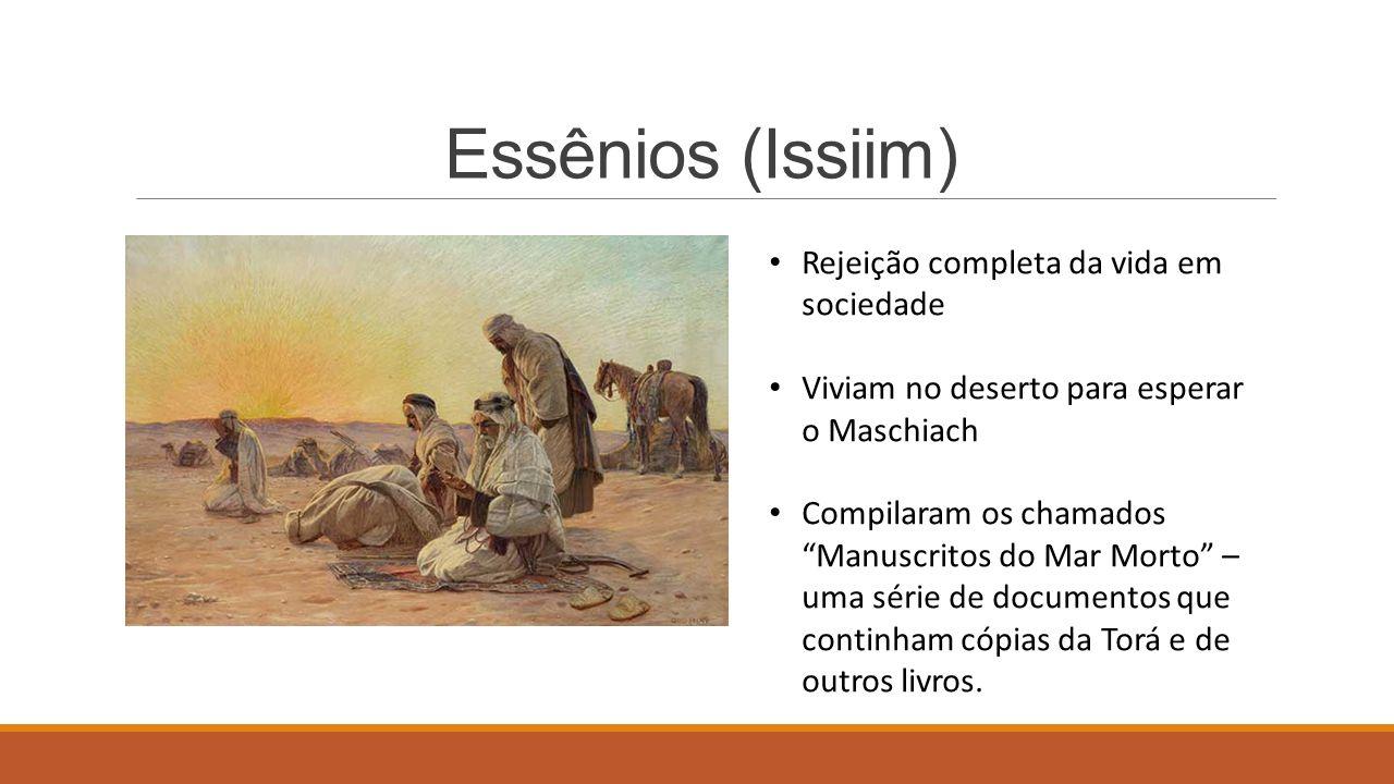 Essênios (Issiim) Rejeição completa da vida em sociedade