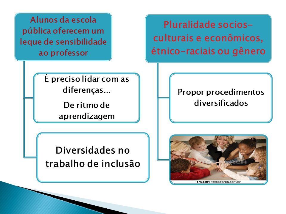 Pluralidade socios-culturais e econômicos, étnico-raciais ou gênero