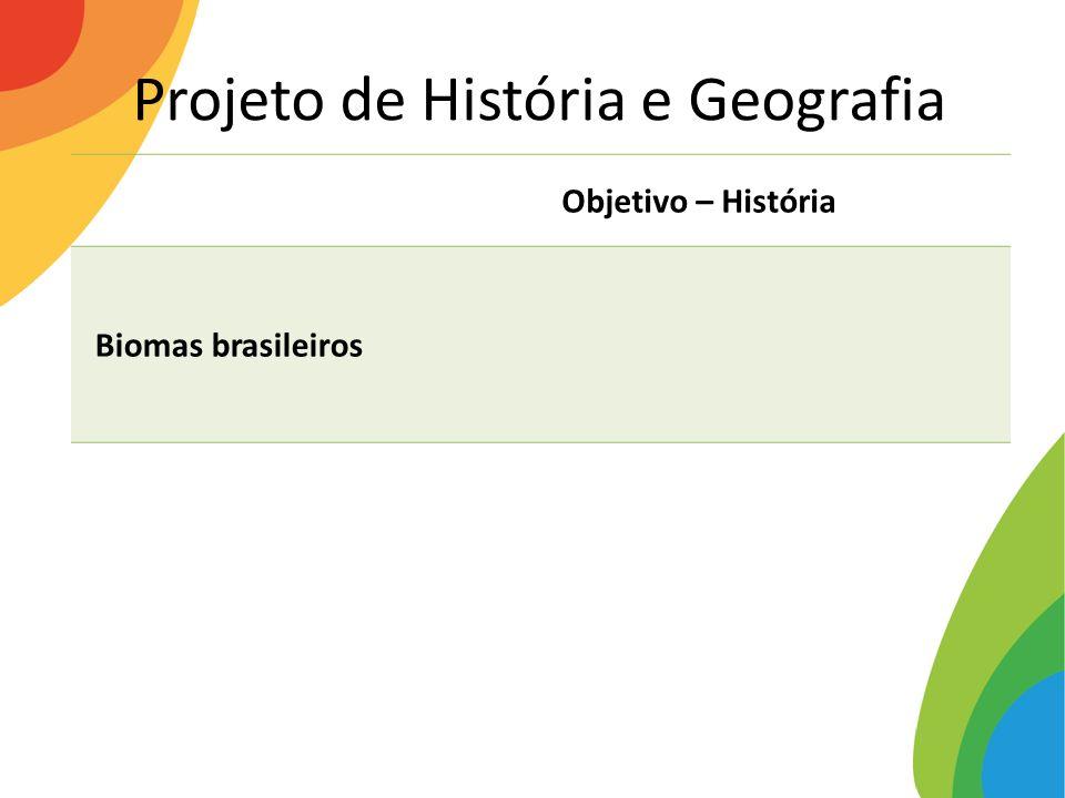 Projeto de História e Geografia