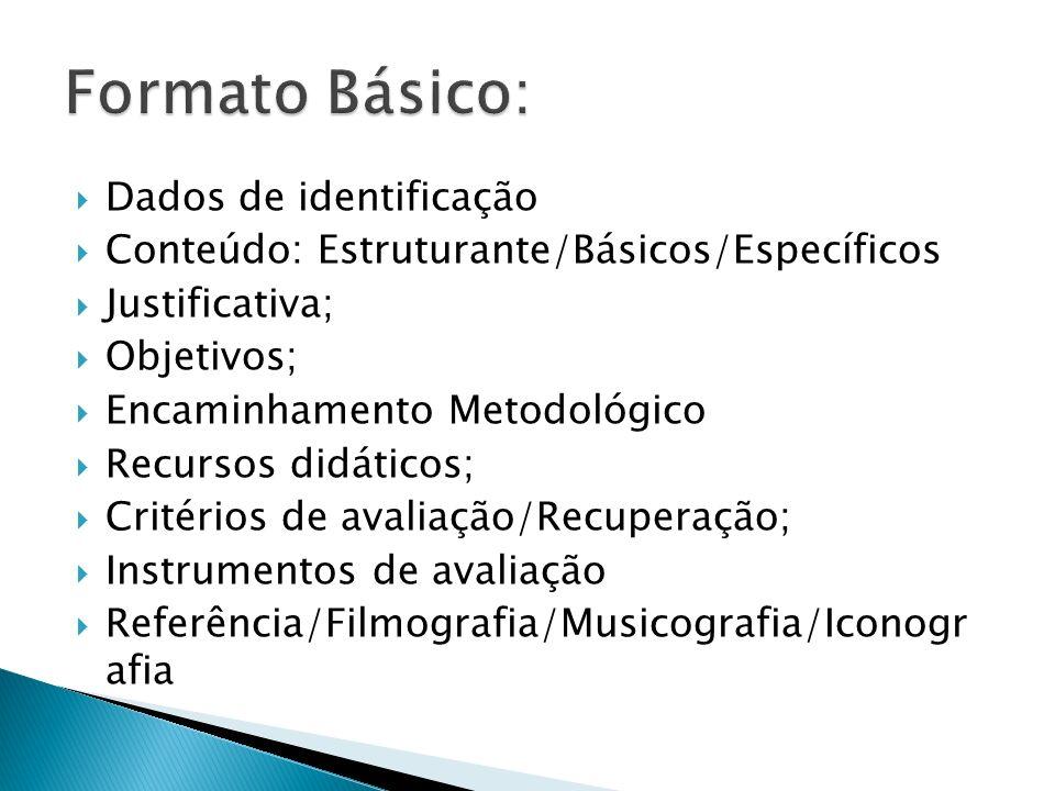 Formato Básico: Dados de identificação