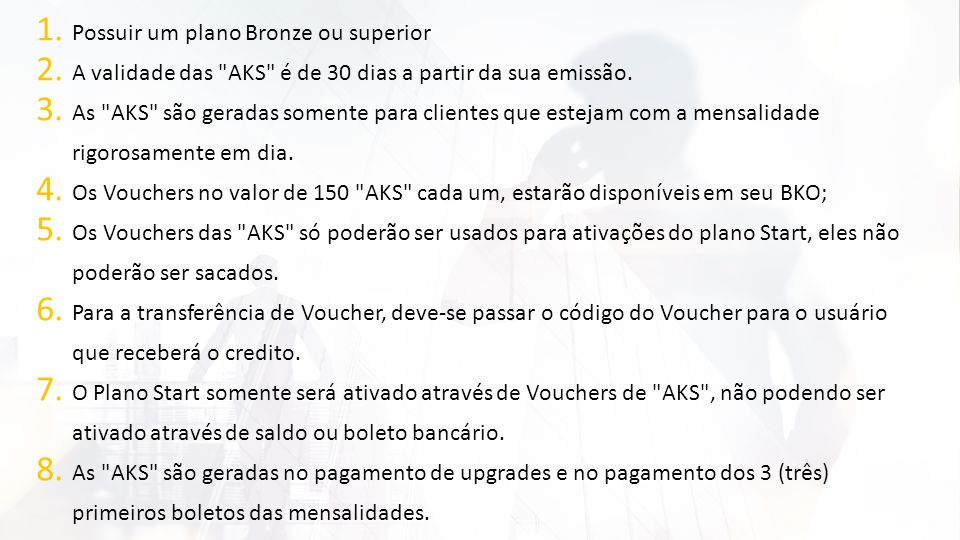 Possuir um plano Bronze ou superior