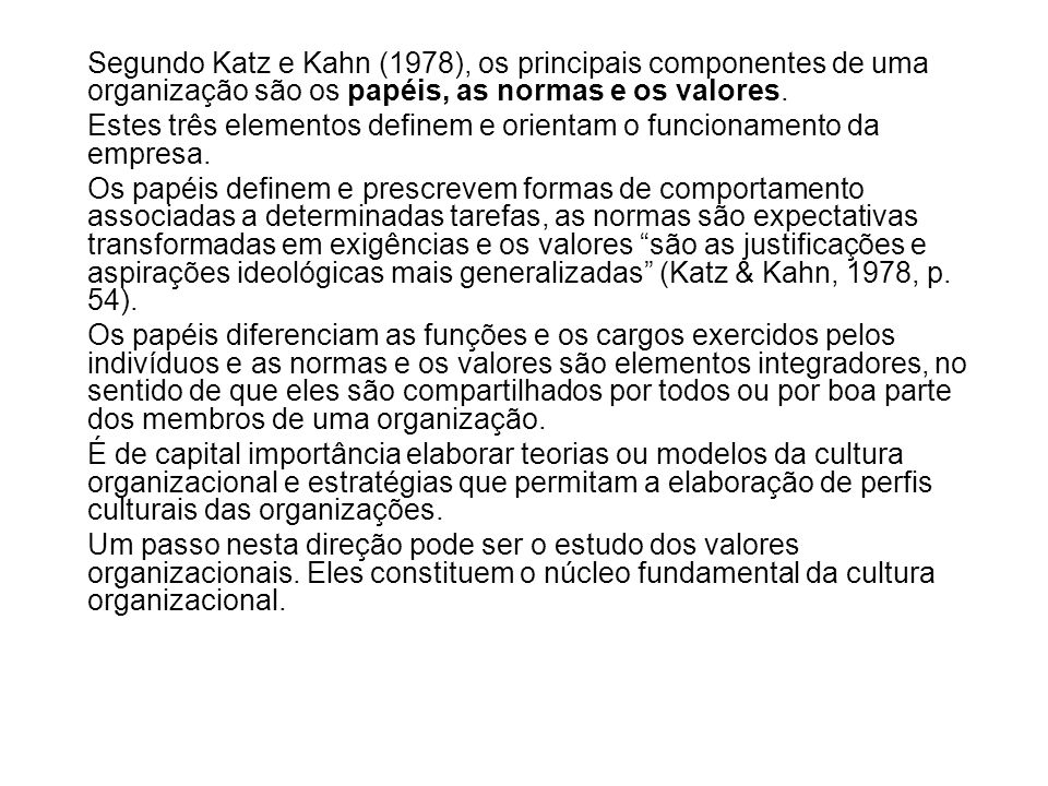 katz and kahn Daniel katz, robert l kahn analyzes the essential problems of human organizations--the motivation to work, the resolution of conflict, the exercise of leadership, and the creation of organizational change.