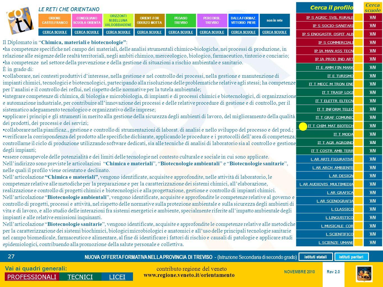 Il Diplomato in Chimica, materiali e biotecnologie :