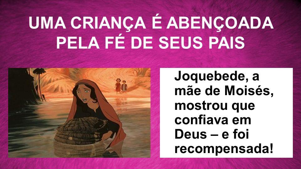 UMA CRIANÇA É ABENÇOADA PELA FÉ DE SEUS PAIS