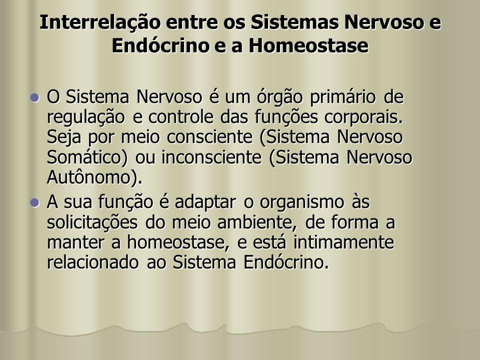 Interrelação entre os Sistemas Nervoso e Endócrino e a Homeostase