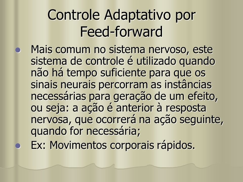 Controle Adaptativo por Feed-forward
