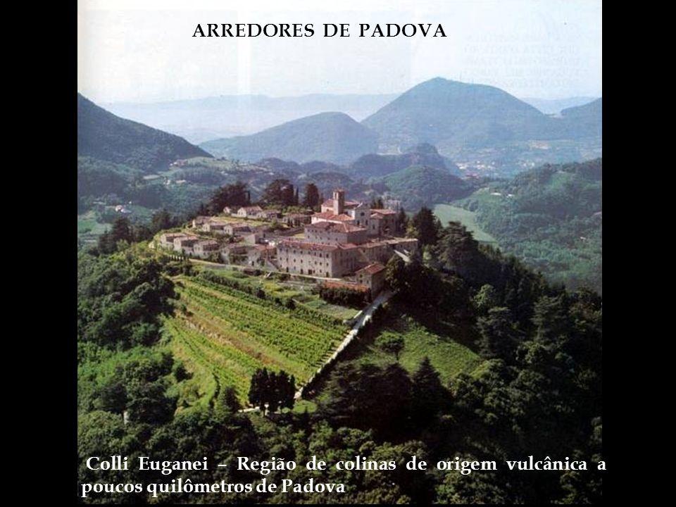 ARREDORES DE PADOVA Colli Euganei – Região de colinas de origem vulcânica a poucos quilômetros de Padova.