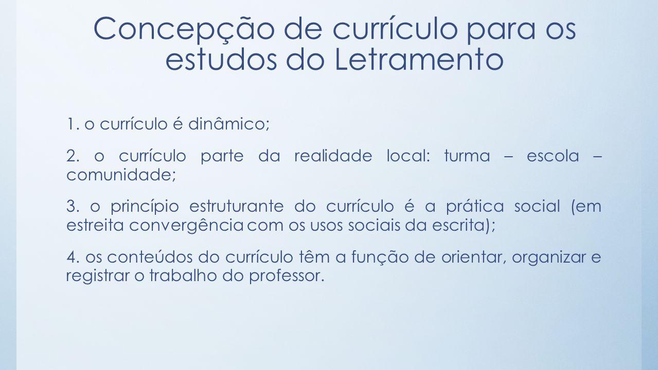 Concepção de currículo para os estudos do Letramento
