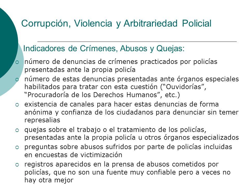 Corrupción, Violencia y Arbitrariedad Policial