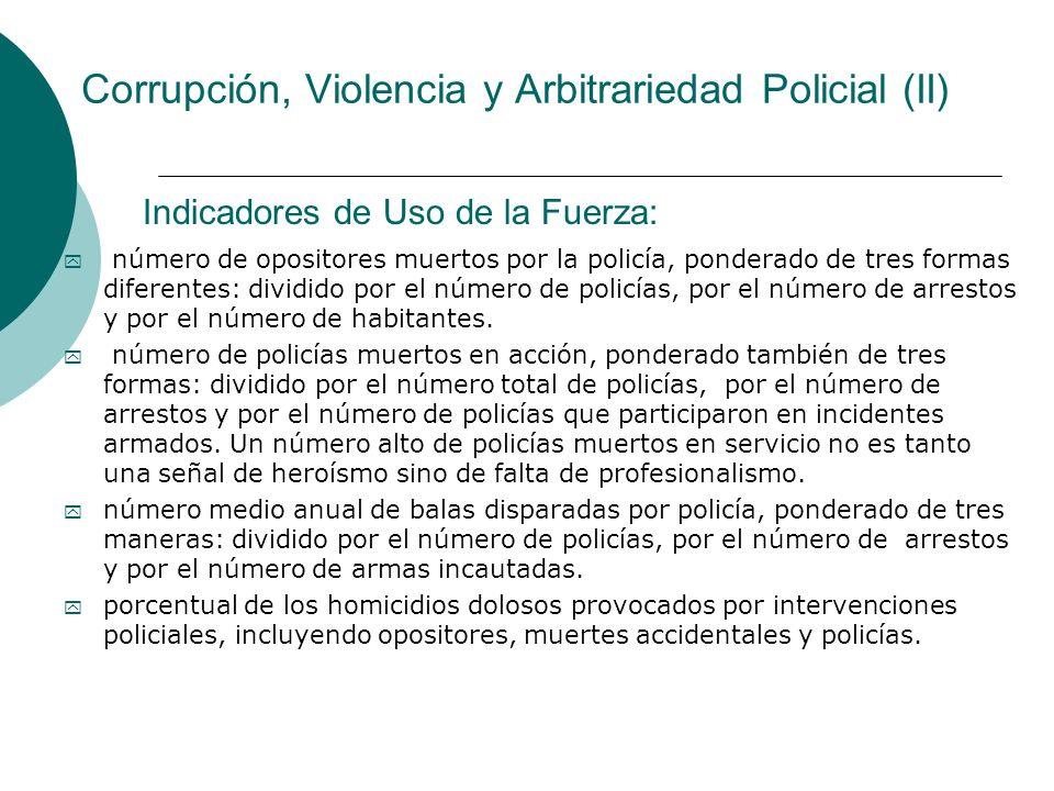 Corrupción, Violencia y Arbitrariedad Policial (II)