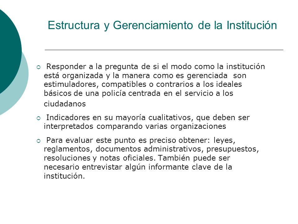 Estructura y Gerenciamiento de la Institución