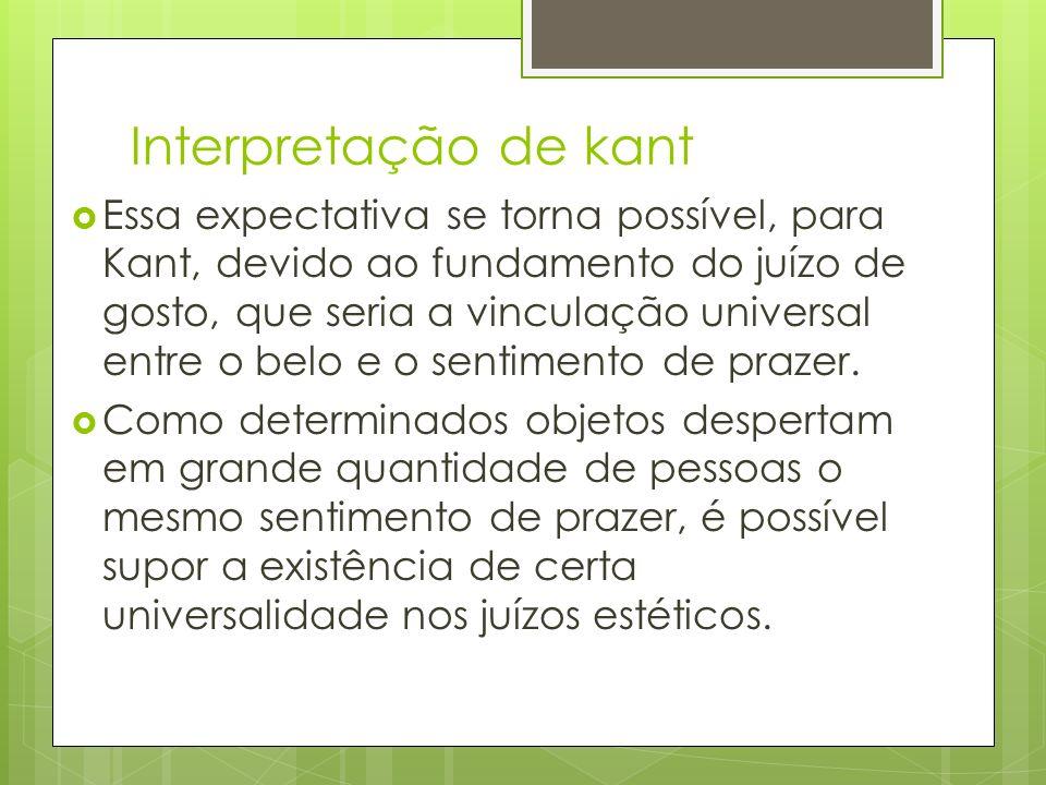 Interpretação de kant