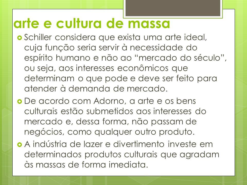 arte e cultura de massa