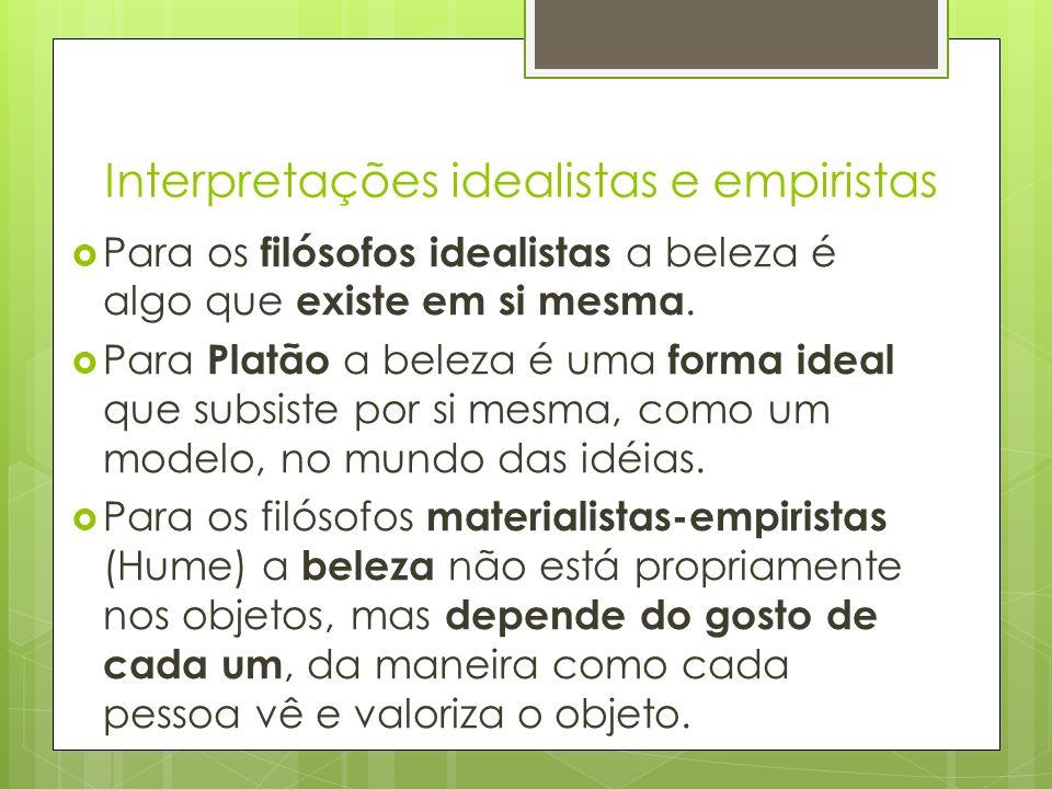 Interpretações idealistas e empiristas