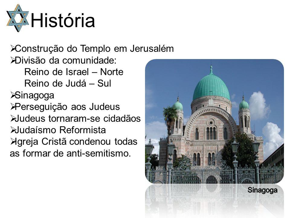 História Construção do Templo em Jerusalém Divisão da comunidade:
