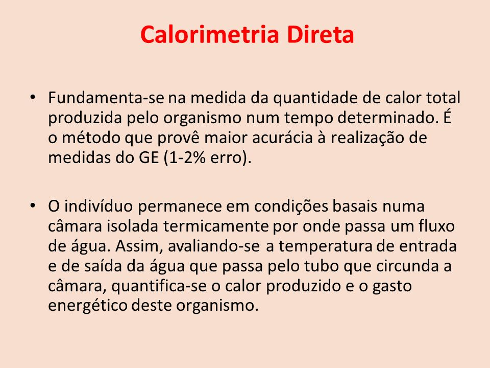 Calorimetria Direta