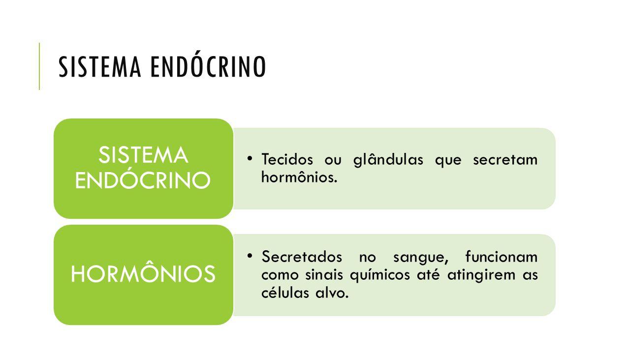 SISTEMA ENDÓCRINO SISTEMA ENDÓCRINO. Tecidos ou glândulas que secretam hormônios. HORMÔNIOS.